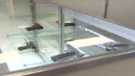Hand Guns On Display At Store on October 09 2012 in Chicago Illinois