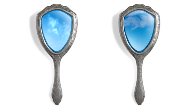 Hand Mirror two sky reflection