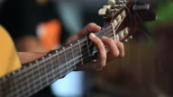 Hand movements on the guitar neck HD1080p
