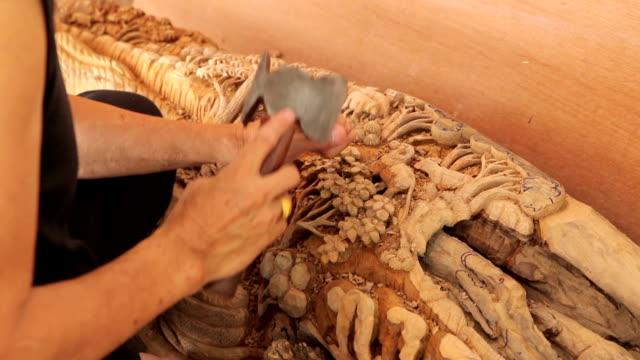 Hand von carver Skulptur wood