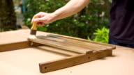 hand Farbe Holz
