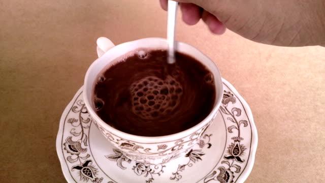 Hand Stirring Hot Chocolate