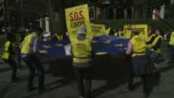 A handful of Amnesty International activists demonstrated in front of the Spanish interior ministry to protest against the immigration policies of...