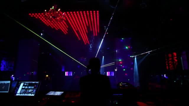 DJ Handling the Sound Mixer in a Nightclub