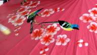 Handmade Thai style umbrella painting, Chiang Mai,Thailand