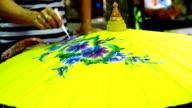 Handmade Thai style umbrella painting