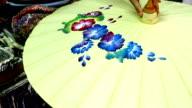 Handgefertigte Thai-Stil-Malerei-Regenschirm