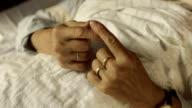 HD: Hands Of A Nervous Senior Woman
