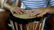 Hands of an African drummer