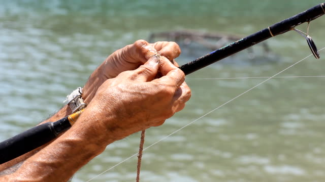Hands on fishing rod