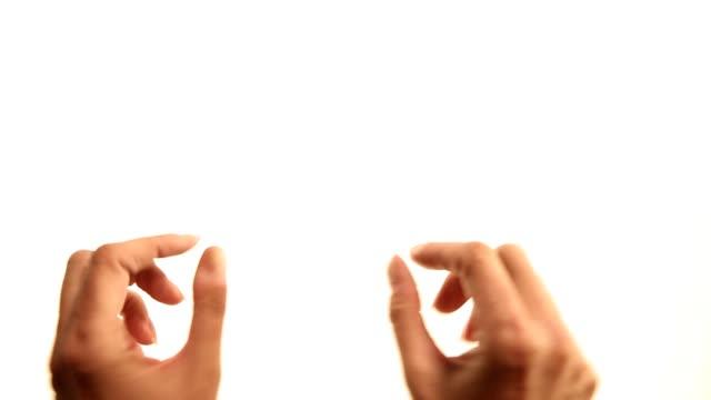 Hände: pinch Gesten