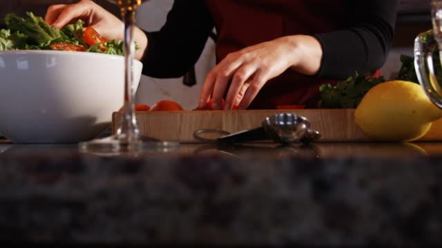 hands preparing food
