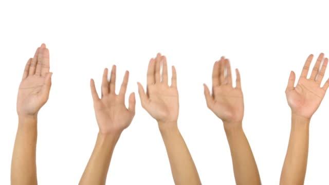 Hands raise