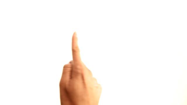 Hände: tablet-Gesten