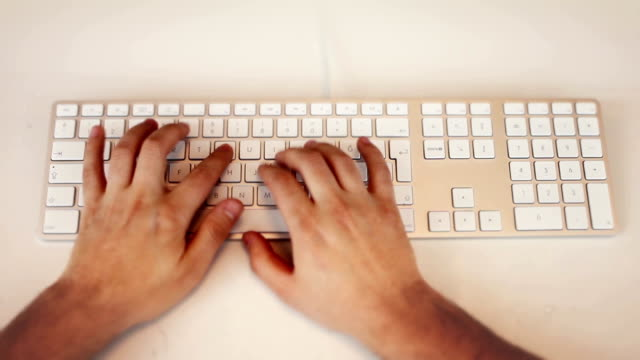 Hands Typing..