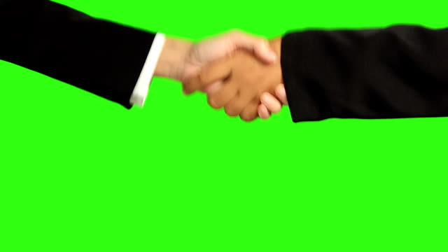 Handshake On Green Screen Background