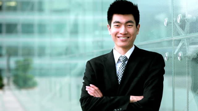 Handsome Businessman Smiling