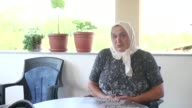 Hanija Suljic who lost both her husband and 15yearold son Damir Suljic 22 years ago speaks at an interview in Gradacac town of Bosnia and Herzegovina...