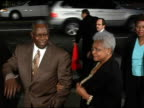 Hank Aaron and wife at the 'Coach Carter' Los Angeles Premiere at Grauman's Chinese Theatre in Hollywood California on January 13 2005
