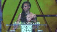 SPEECH Hannah Beachler at 21st Annual Art Directors Guild Excellence in Production Design Awards in Los Angeles CA