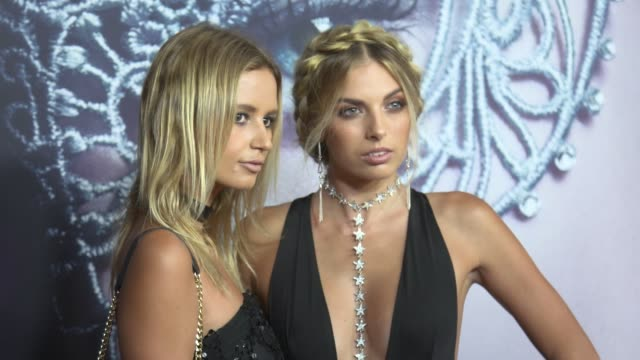 Hannah Perera and Tori Levett arrive ahead of the Fifty Shades Darker launch screening at Hoyts Entertainment Quarter on February 08 2017 in Sydney...