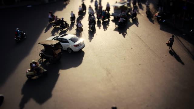 Hanoi traffic timelapse. Vietnam HD 1080 video