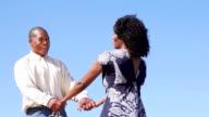 Felice coppia Afro-americana