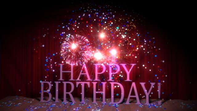 Happy Birthday Seamless loop