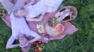 happy couple on picnic