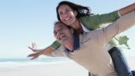 Happy Couple: pretending to fly