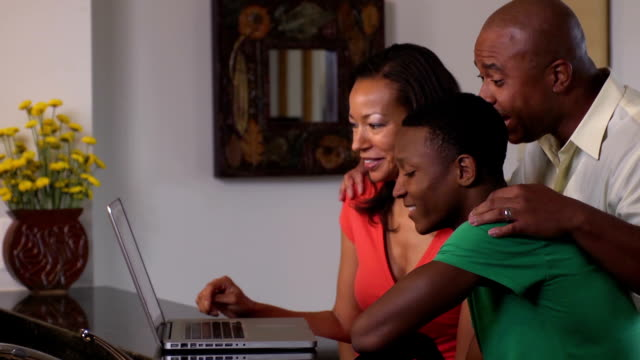 Happy Family Video Conferences with Friends or Relatives