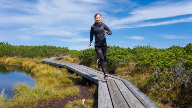 Happy female runner