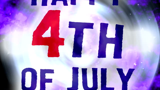Happy Fourth of July Swirls Loop