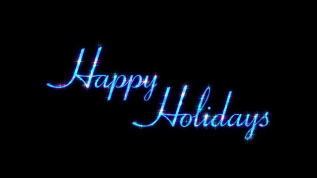 Happy Holidays HD Text Element with Alpha Channel