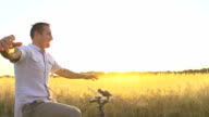 HD SUPER SLOW MO: Happy Man Cycling Without Hands