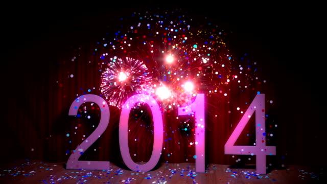 Frohes neues Jahr 2014 nahtlose loop