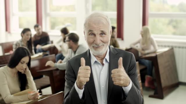 Happy professor