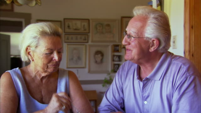 Cu Zo Happy Senior Couple Eating Fruit Salad In Living Room Halifax Nova Scot