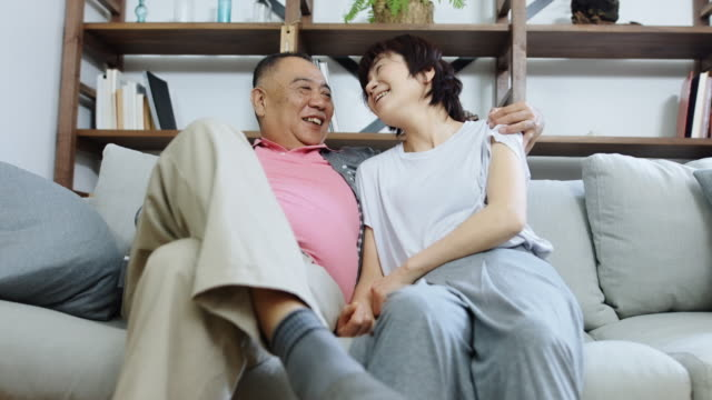 Happy Senior Japanese Couple