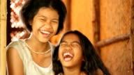 Happy two girls