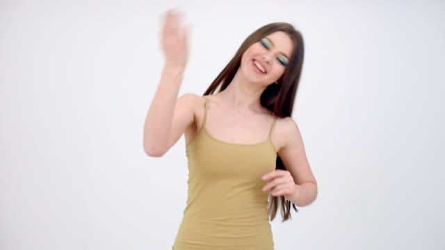 Happy woman dancing