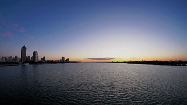 Harbin Songhua River,day to night