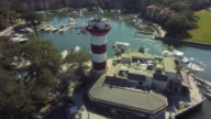 Harbor Town Hilton Head Aerial of Lighthouse