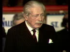 Harold MacMillan gives his first speech in over 16 years at an European meeting in Bradford ENGLAND Yorkshire Bradford MS Applause as Harold...