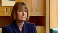 Harriet Harman interview on paedophile rights group claims ENGLAND London INT Harriet Harman MP interview SOT