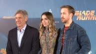 Harrison Ford Ana de Armas and Ryan Gosling poses during the photocall of the film 'Blade Runner 2049'