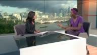 Harry Potter actress Rakie Ayola speaks out about her daughter's neuro fibro matosis ENGLAND London GIR INT Rakie Ayola STUDIO interview SOT