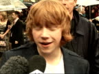 'Harry Potter and the Order of the Phoenix' Interviews with cast Rupert Grint interview SOT In the last one he was a bit of a wimp / He was going...