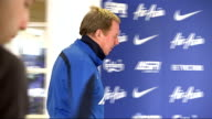 Harry Redknapp comments on Adel Taarabt ENGLAND London INT Harry Redknapp arriving at press conference and taking seat