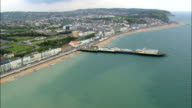 Hastings Pier  - Aerial View - England,  East Sussex,  Hastings District,  United Kingdom